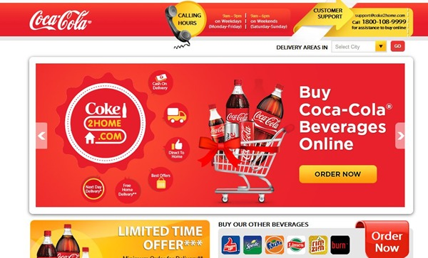 Coke2Home 10% Off Discount Coupon September 2014