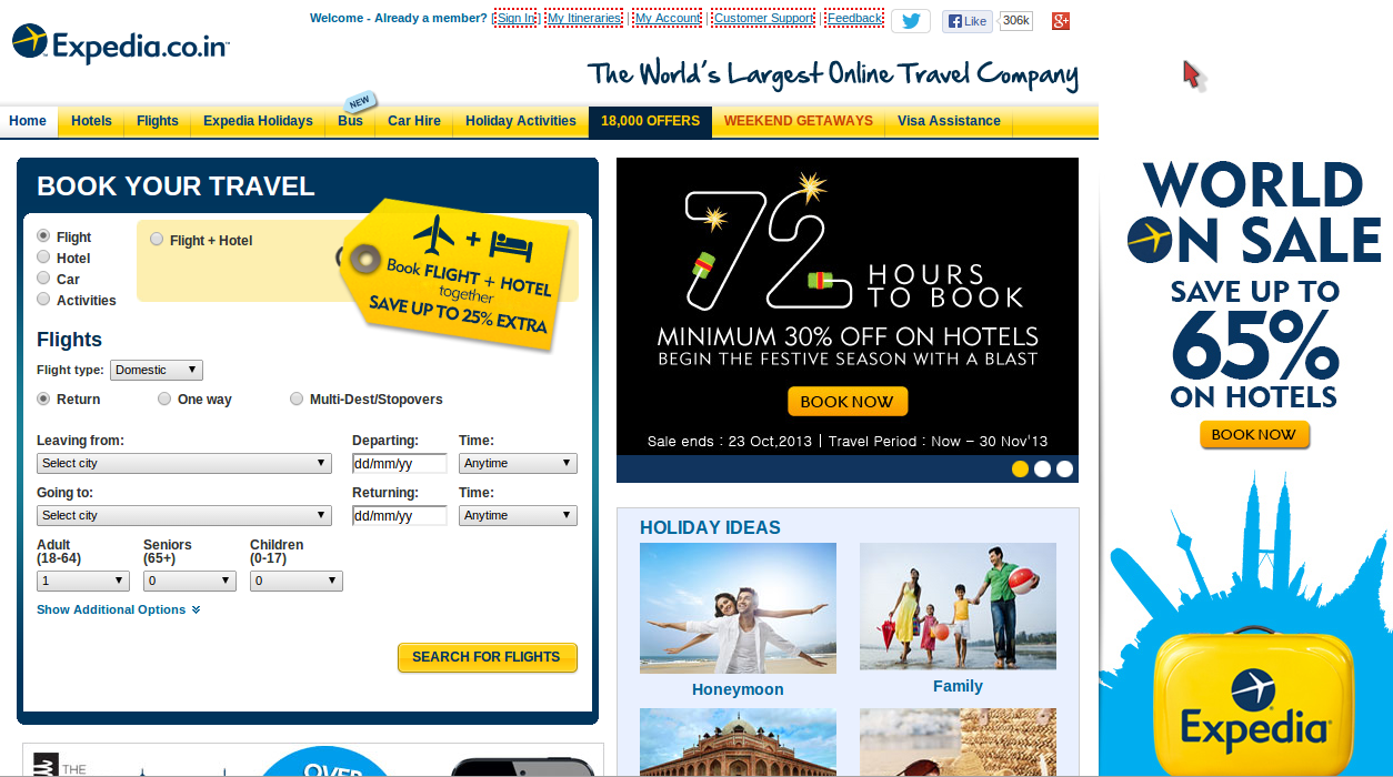 Expedia 10% Off on Hotel Booking on Mobile App Discount Coupon July 2014