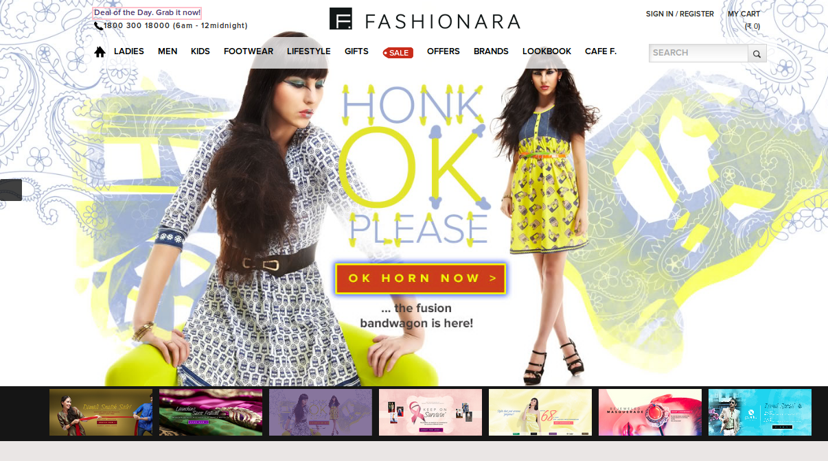 Fashionara 70% Off on Fashion Accessories Discount Coupon July 2014