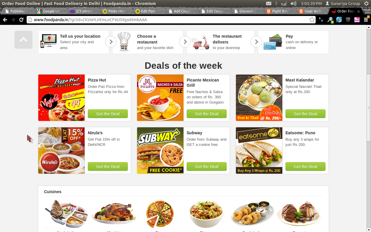 Foodpanda Rollmaal BOGO Offer In Delhi Buy 1 Get 1 Free Discount Coupon April 2014