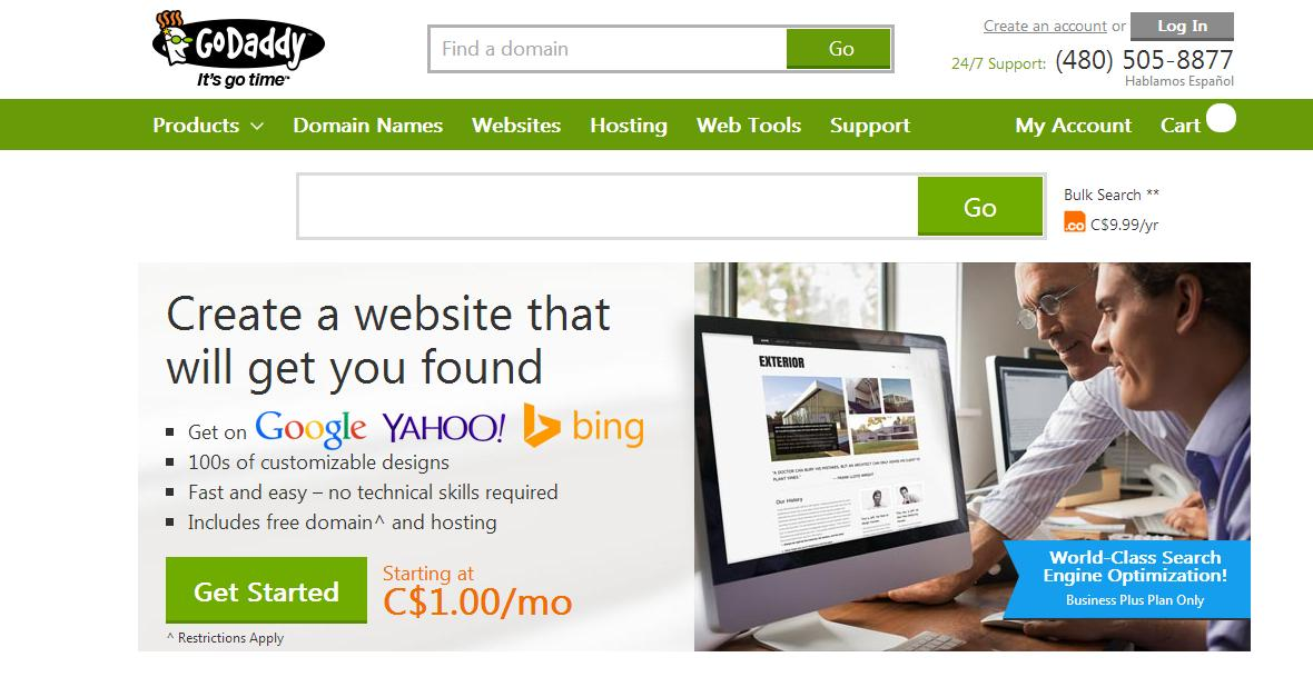 GoDaddy £1.95 .Com Domain Name Discount Coupon July 2014