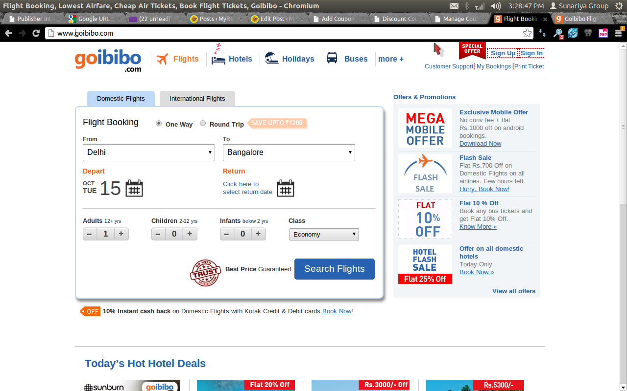 Goibibo Rs 600 Off Offers On Domestic Flights Discount Coupon