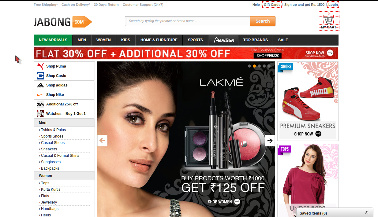 Jabong SBI Card Holders 5% Cash Back Coupon Code July 2014