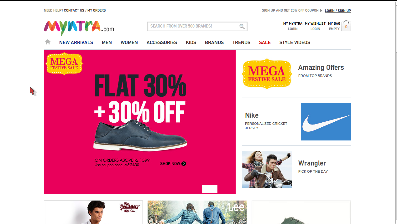 Discount coupon for myntra
