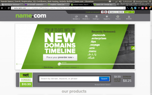 Name .com & .net Domain Name Discount Offer