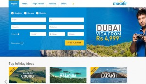 Musafir Rs. 5,000 Off on International Flights Ticket Booking Coupon Code May 2015
